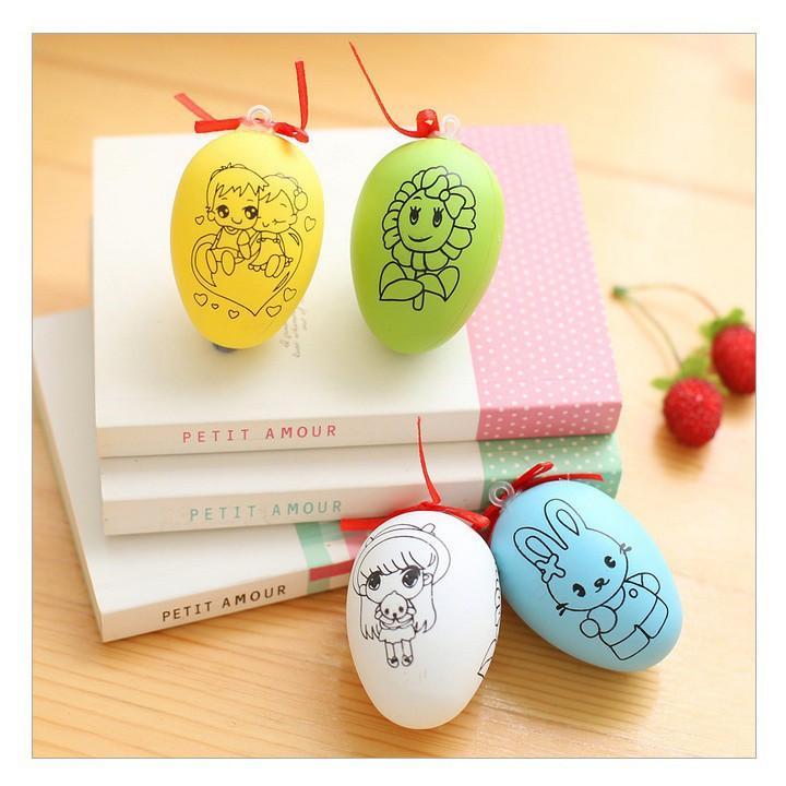 # Bộ đồ chơi trứng tô màu kèm 4 bút màu #