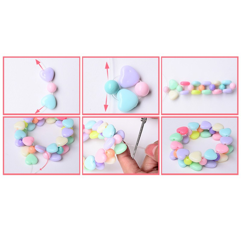 Educational Toy Acrylic Beads DIY Beaded Kids Toys
