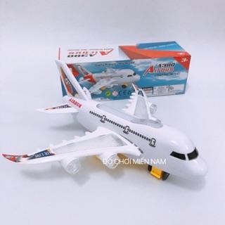 [Có đèn nhạc] Đồ chơi máy bay chạy tự động dành cho bé