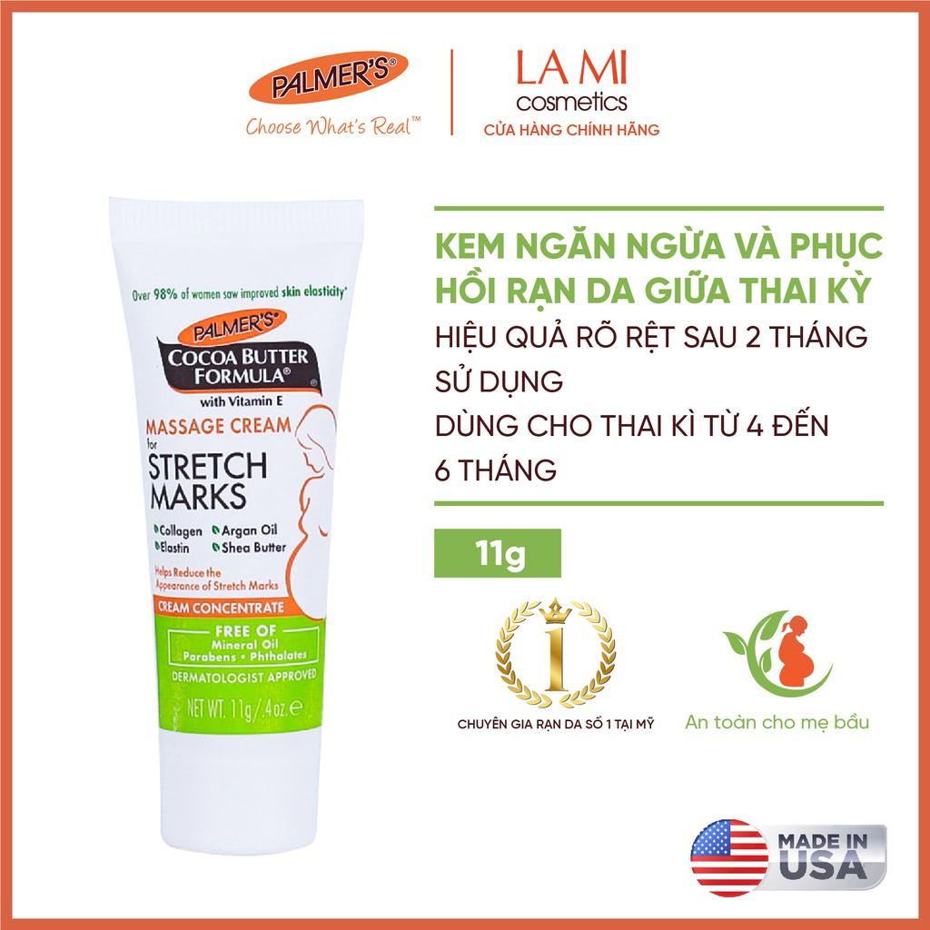(Mini Size) Kem ngăn ngừa và hỗ trợ điều trị rạn da Palmers 11g cao cấp