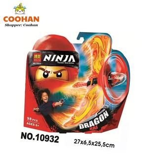 (màu xanh dương) Lego con quay Ninja Go Lốc xoáy rồng điện mẫu mới nhất
