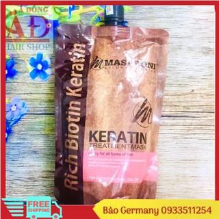 [Chính hãng] Dầu hấp ủ tóc phục hồi chuyên sâu Masaroni Keratin Treatment mask (dạng túi) 500ml thumbnail