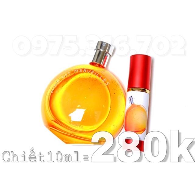 Chiết 10ml Elixir Mervelles Hermes