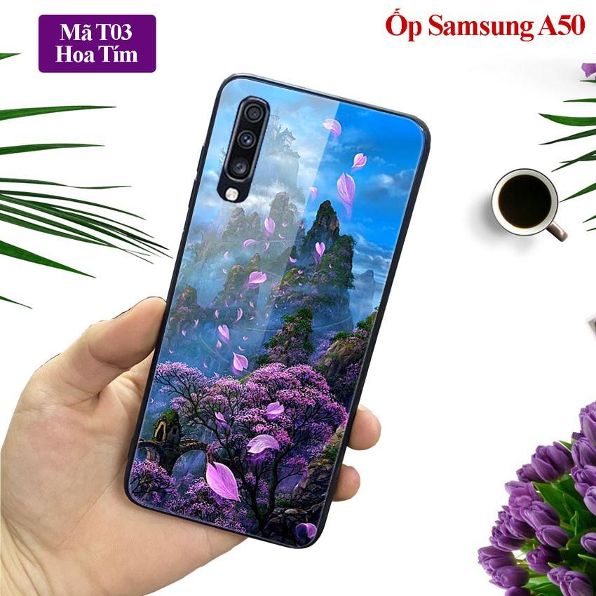 [Free Ship] Ốp lưng Samsung A50 ốp điện th0ại mặt lưng kính KÍNH IN HÌNH chống trầy xước, đẹp, cao cấp