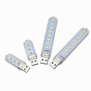 1PC High Quality USB LED Book Lights 3LEDs 8LEDs SMD 5630 5730 LED Bulb 5V Power Input White 5000-6500K Warm White 3000-3500K USB Night Light