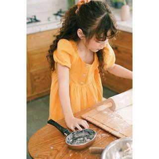 Váy công chúa bé gái thiết kế babydoll cộc tay - Celena Dress - Vàng