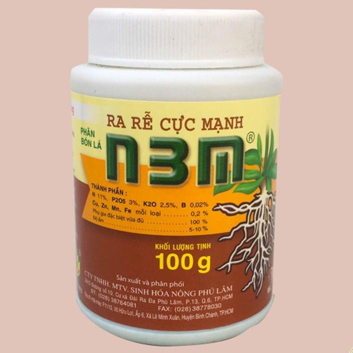 Phân bón lá kích rễ N3M lọ 100g, siêu ra rễ cho cây trồng lọ 100g