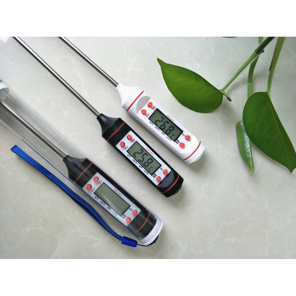 Nhiệt kế điện tử TP101 đo nhiệt độ chất lỏng, đo nhiệt độ nước pha sữa, đo nhiệt độ nước tắm, đo nhiệt độ bể cá.