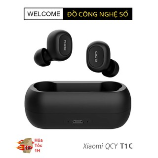 [Mã ELORDER5 giảm 10K đơn 20K] Tai nghe True Wireless Earbuds QCY T1C - Hàng chính hãng