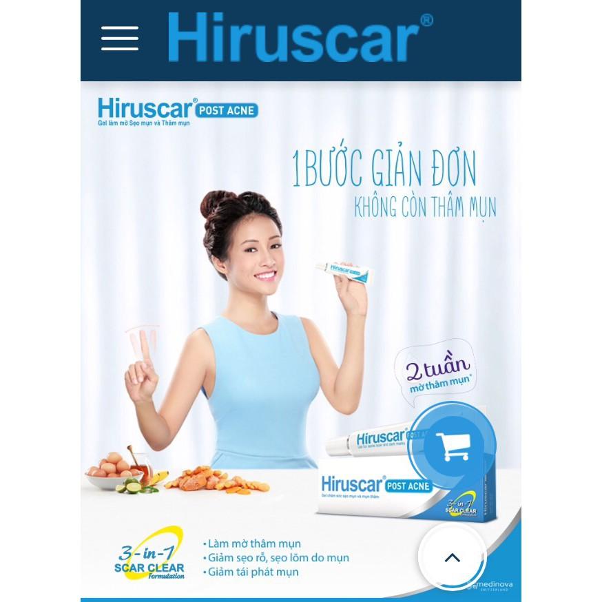 [Mã HIRU1019 giảm 10% đơn bất kỳ] Gel làm mờ sẹo mụn và thâm mụn Hiruscar Post Acne 5g