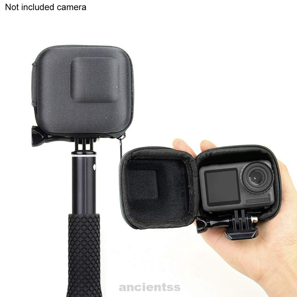 Storage Case Anti Shock Braided Fabric Camera Accessory Scratch Resistant Protective Zipper Closure For DJI Osmo Action