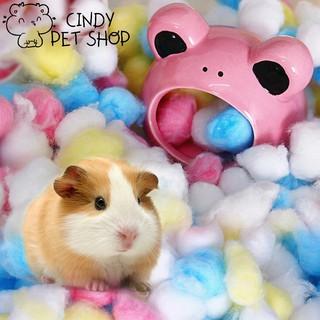 Bông gòn tạo ổ ấm áp cho Hamster, Sóc Bay, Sóc Bông... thumbnail