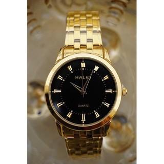 Đồng hồ cặp đôi nam nữ Halei mặt đen dây da kim loại chính hãng Tony Watch 68 thumbnail