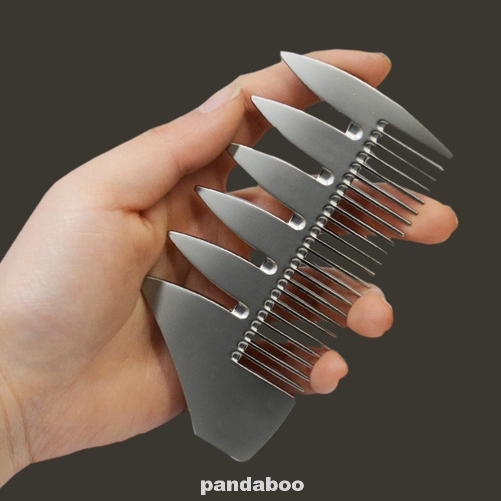 2 In 1 Beard Comb Dual Sided Wide Tooth Home Lightweight Multifunction Styling Short Detangling Pocket Size