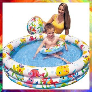 [Duy Nhất] Bộ bể bơi 3 tầng kèm phao và bóng cho bé Hàng Chuẩn