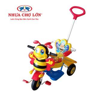 Xe 3 bánh Nhựa Chợ Lớn – L8 Con ong ĐKBH – M1605A-X3B Có cần điều khiển