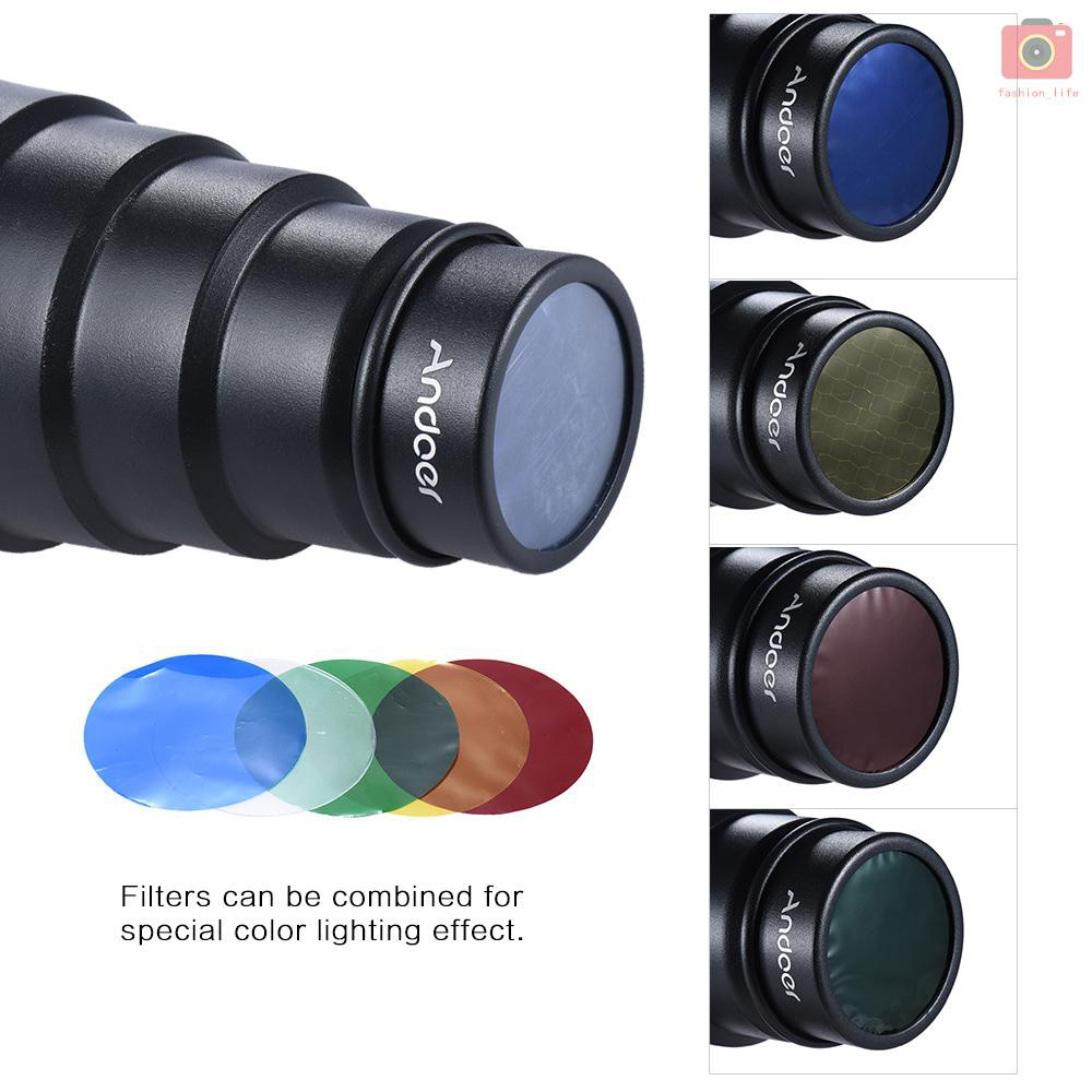 Bộ lọc màu tổ ong 50 độ cho Neewer Canon Nikon Yongnuo Godox Meike Vivitar