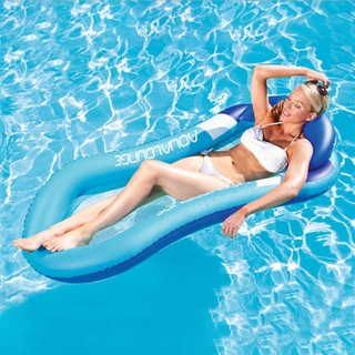 Giường phao bơm hơi nổi trên mặt nước tiện dụng khi đi bơi