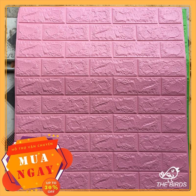 xốp dán tường giá rẻ 🔥 Freeship 🔥miếng xốp dán tường 3d giả gạch kích thước 70x