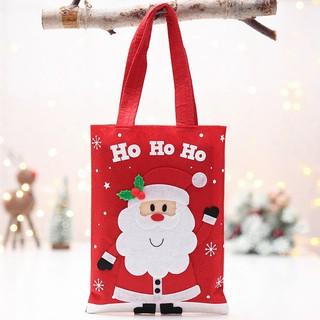 Santa Snowman Christmas Tree Hangings Kid's Xmas Gift Bags