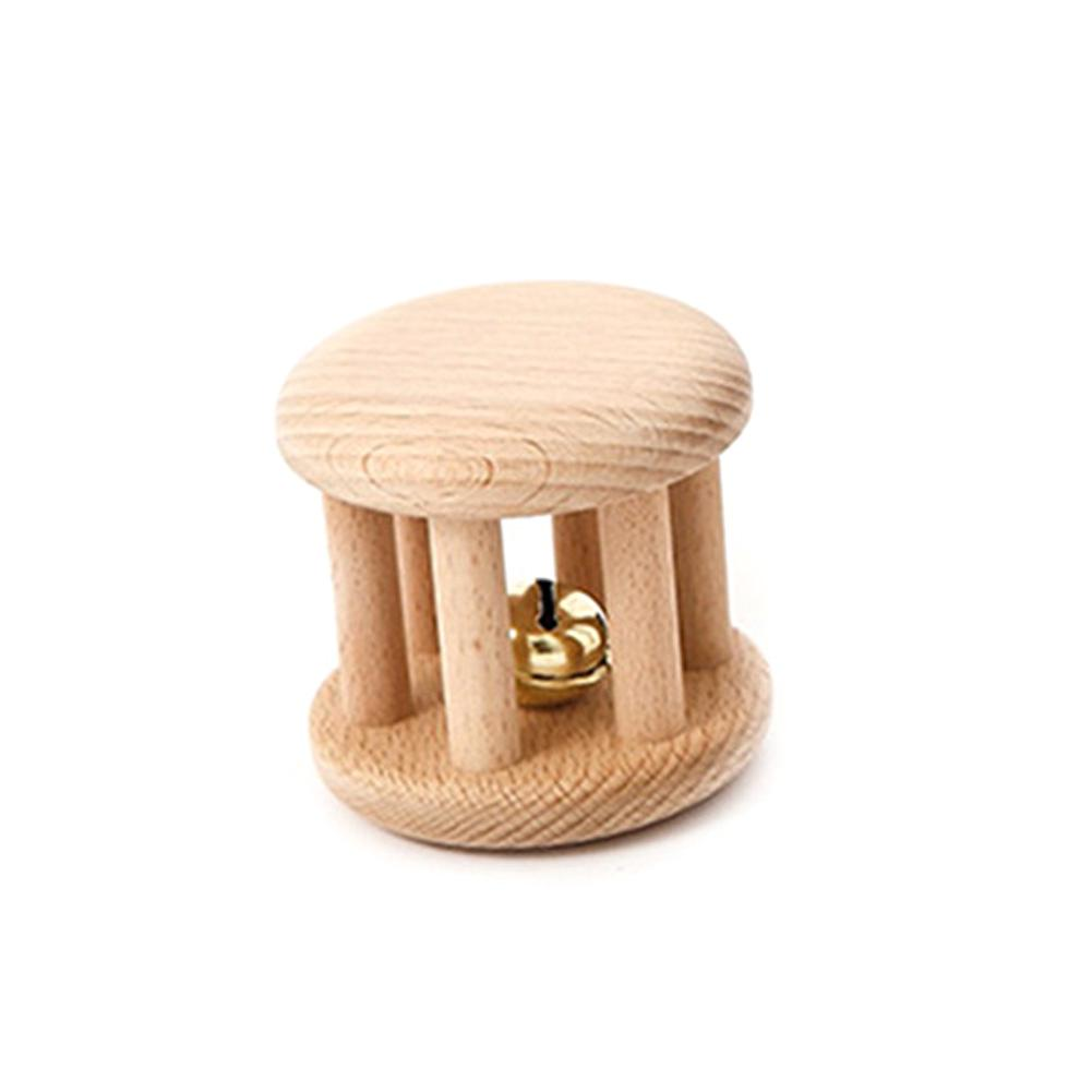 Intellectual Wooden Baby Montessori Interesting Stroller Hand Toys Rattle Teething Chew Molar
