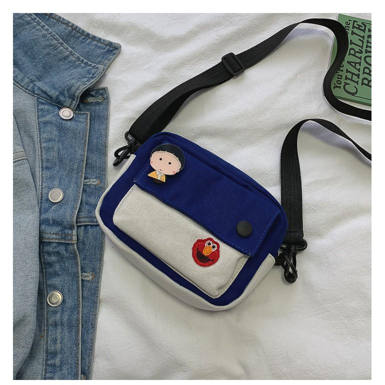 Túi tote giá rẻ vải canvas đeo chéo đi học TX523