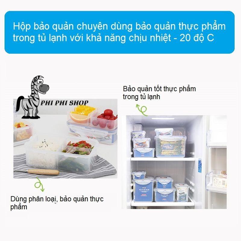 Hộp nhựa 4 ngăn bảo quản thực phẩm Lock&lock Classic 1.6L HPL847C