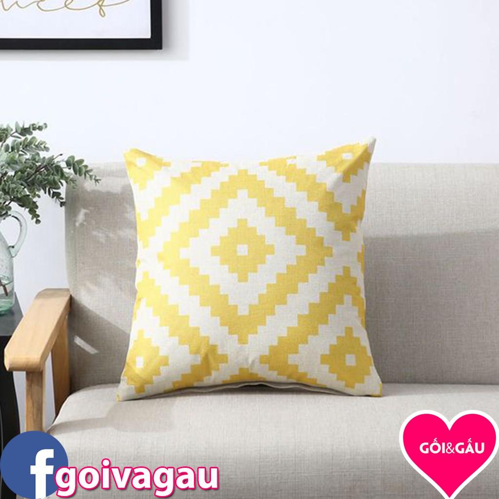 Gối tựa lưng, gối trang trí, gối sofa - 045 (45x45 cm)