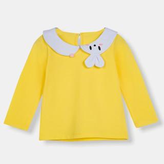 Áo bé gái màu vàng, áo nỉ áo len cho bé gái, quần áo trẻ em KYNKIDS ATC0003.
