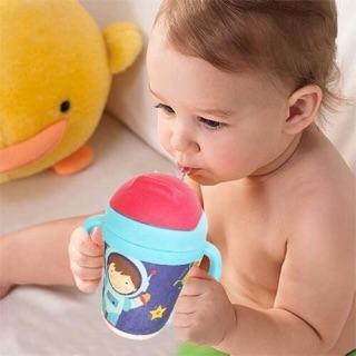 Bình tập uống nước cho bé có ống hút chất liệu Bamboo 300ml