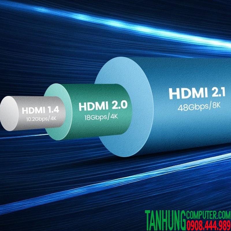 Cáp HDMI 2.1 dài 3M ULTRA HD 8K@60Hz 48Gbps Cao Cấp Ugreen 80602 màu đen
