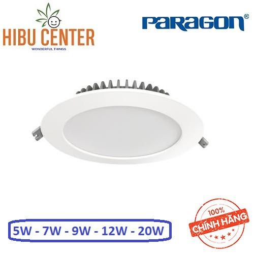 Đèn LED Paragon Downlight Âm Trần (PRDYY Series) - 5W/ 7W/ 9W/ 12W/ 20W - Ánh Sáng Vàng/ Trung Tính/ Trắng. CHÍNH HÃNG