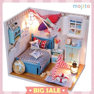 Mojito♡DIY Miniature 3D Wooden Dolls House Model Dust Cover Dollhouse Toys Gifts