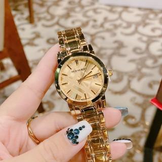 Đồng hồ nữ burberry dây kim loại không gỉ, hàng full box, thẻ bảo hành 12 tháng - Dongho.burberry thumbnail