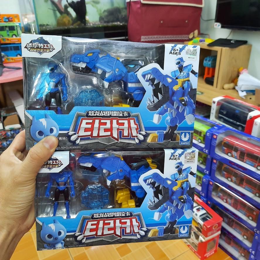 Đồ chơi biệt đội siêu nhân nhí miniforce đồ chơi trẻ em Khủng long Tyranno sấm sét & siêu nhân Volt tốc độ