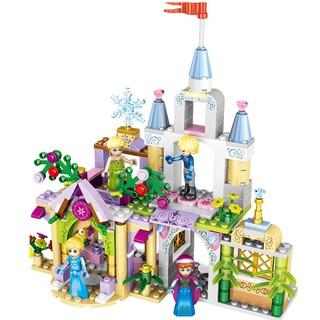 Đồ chơi lắp ráp combo 4 trong 1 lâu đài Lâu đài công chúa CLG37020