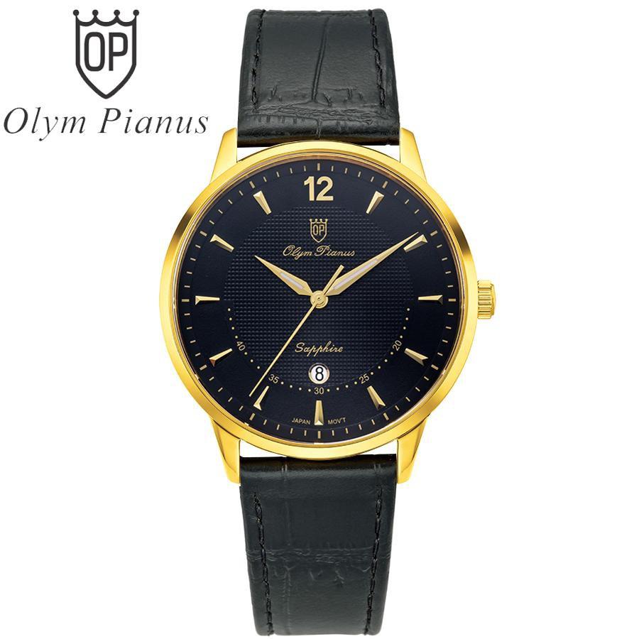 Đồng hồ nam dây da Olym Pianus OP5709 OP5709MK-GL đen