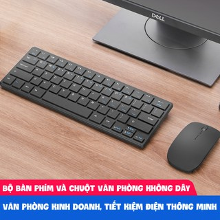 Bộ chuột bàn phím không dây gọn nhẹ bấm cực êm không gây tiếng ồn bảo hành 12 tháng 911 bàn phím mini