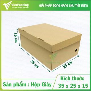 [HÀNG ĐỘC] 25 hộp carton size 35x25x15 đựng giày nam size lớn thumbnail
