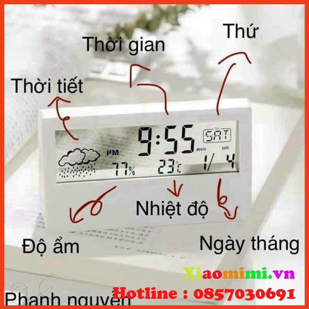 Đồng Hồ Báo Thức Điện Tử Để Bàn Thiết Kế Độc Đáo Tiện Dụng