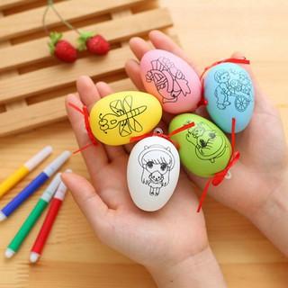 Quả trứng vẽ màu cho bé tặng 4 bút màu