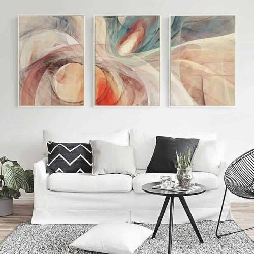 Tranh treo tường abstract hiện đại 40*60cm