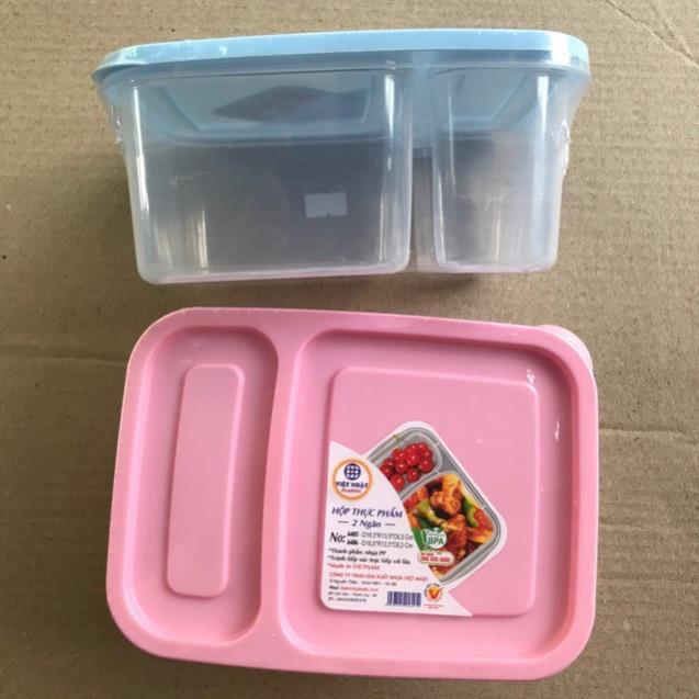 ( deal 10k ) Hộp thực phẩm 2 ngăn cao cấp hàng Việt nhật NO6486