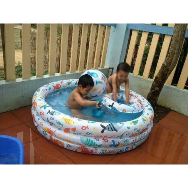 Bể bơi mini cho bé kèm phao và bóng