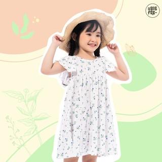 Đầm Cho Bé Gái Miss Meow Tới Size Đại . Váy Cotton Thun Trẻ Em Váy Hoa 3 Tầng Tay Bèo 3-9