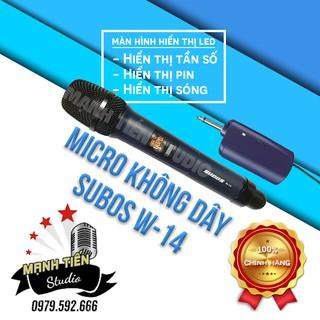 Micro karaoke không dây W14 dành cho karaoke gia đình, hát live stream,loa kéo âm thanh trung thực và dễ sử dụng