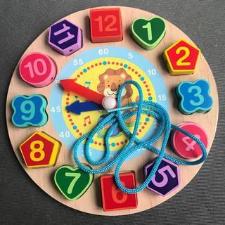 [Đặc biệt] Đồ chơi đồng hồ gỗ xâu hạt hoạt hình cho bé- Nhiều mẫu khuyên dùng