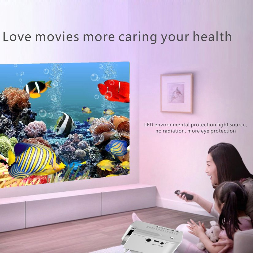 8.15【HOT】UC28B+ Home LED Projector Mini Portable 1080P HD Projection For Home Theater