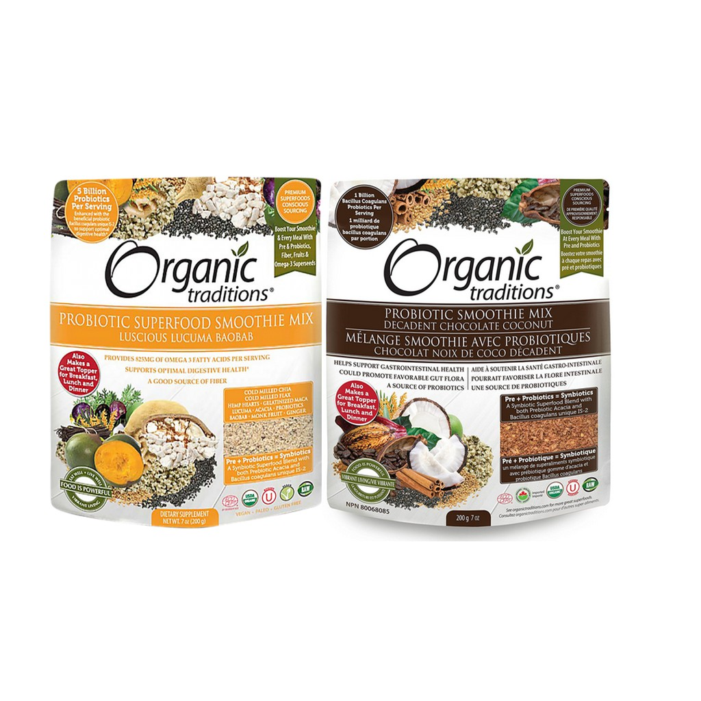[Organic Traditions] Bột Lợi Khuẩn Probiotic (2 loại lựa chọn)