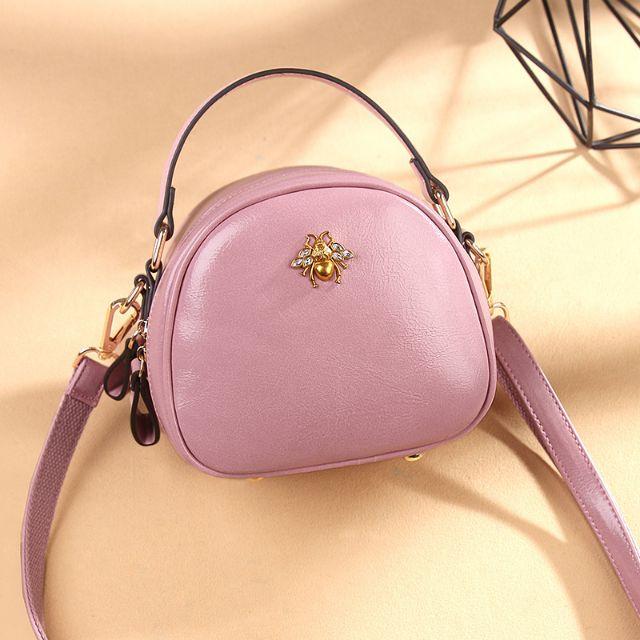 Nhập mã WBSPRE99- Túi xách thời trang nữ đính con ong cao cấp Quảng Châu (hồng)